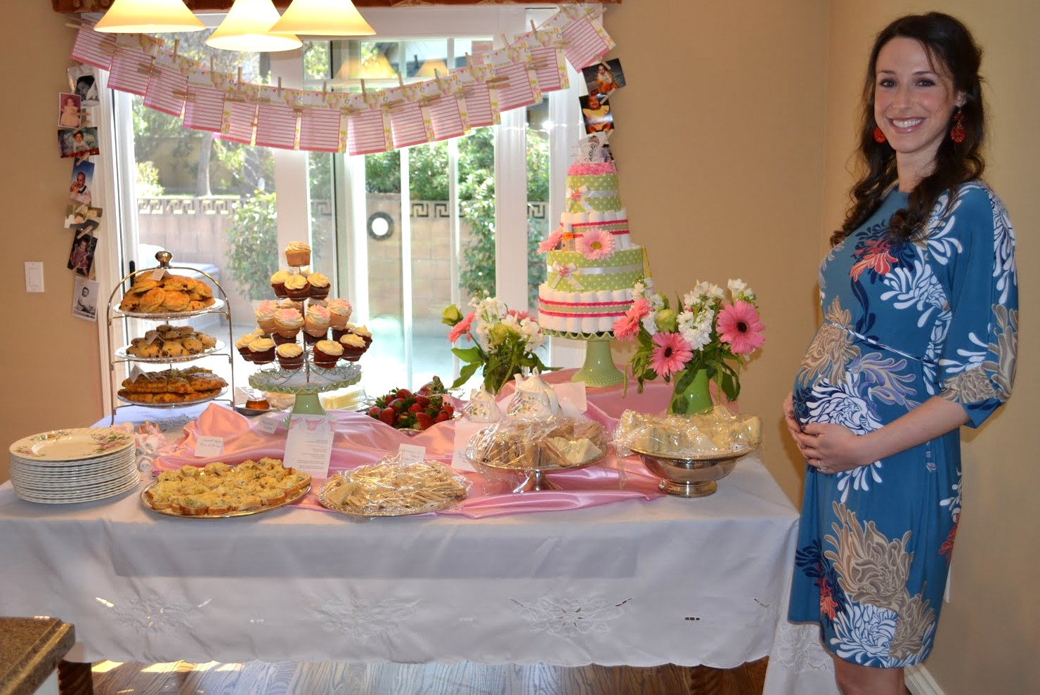 beautiful baby shower and an extra beautiful momma to be